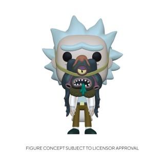 Figurine Funko Pop Rick avec Glorzo - Rick et Morty