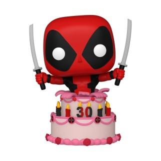 Figurine Funko Pop Deadpool dans un gâteau - 30 ans de Deadpool N°776