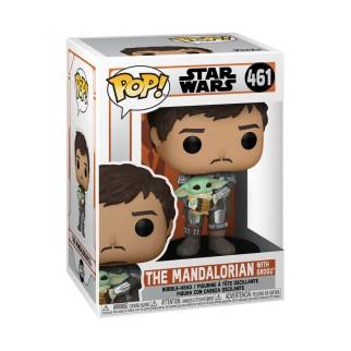Figurine Funko Pop Mando et Baby Yoda (Grogu) - The Mandalorian N°461
