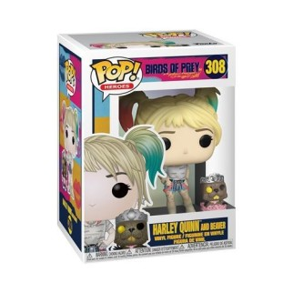 Figurine Funko Pop Harley Quinn avec un castor - Birds Of Prey N°308