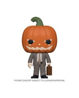Figurine Funko Pop Dwight avec une tête citrouille - The Office