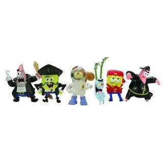 Pack de 6 figurines Bob L'Eponge
