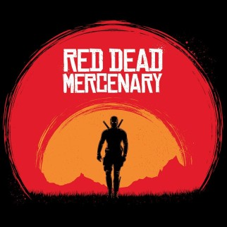 "T-Shirt ""Red Dead Mercenary"""