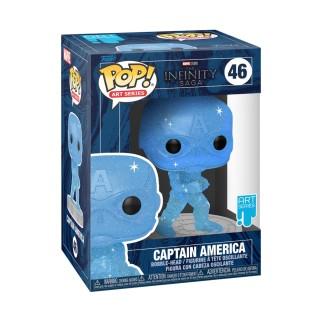 Figurine Funko Pop Captain America (Bleu) Spécial Artiste - The Avengers N°46