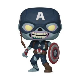 Figurine Funko Pop Zombie Captain America - What If..? N°941