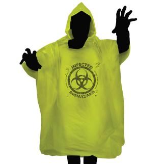 Déguisement Poncho De Pluie Zombie Biohazard Fluorescent