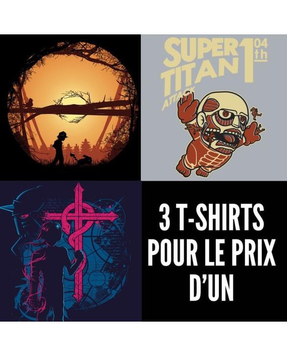 OFFRE PROMO : 3 t-shirts manga pour le prix d'1