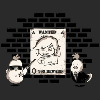 "T-Shirt ""Wanted Chicken"""