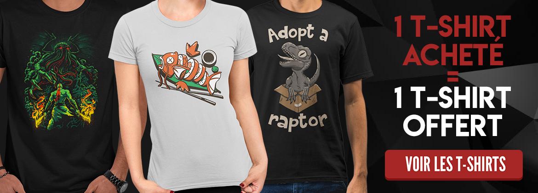 1 t-shirt acheté = 1 t-shirt offert